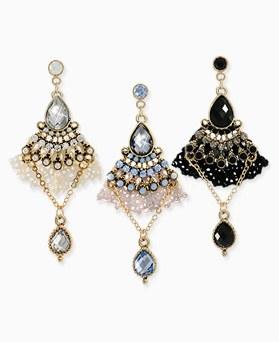 1045529 - <ER1259_CH21> lace chandelier earrings