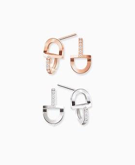 1045530 - <ER1259_GJ28> [Silver Post] Mini delis earrings