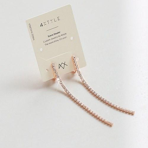 1045534 - <ER1255_DM02> [Same day delivery] [clip type] simple long jullan earrings