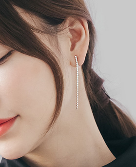 1045534 - <ER1255_DM06> [Same day delivery] [clip type] simple long jullan earrings