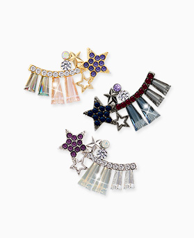 1045541 - <ER1257_GI30> crystal Milky Way earrings