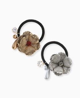 1045544 - <HA522_FF00> ethnic blossom ponytail