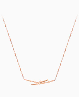 1045579 - <NE411_IF19> [Silver] simple song ribbon necklace