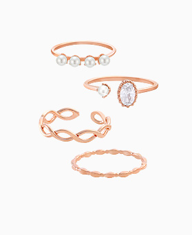 1045588 - <RI699_JA24> [4Piece 1set] angel pearl ring