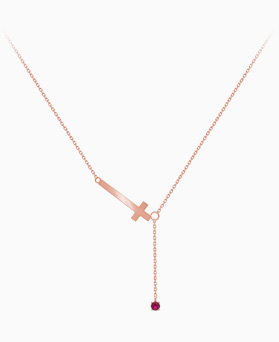 1045602 - <NE405_S> [Sold out] [Silver] Vivid cross necklace