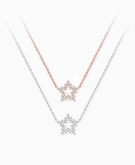 1045605 - <NE406_S> [Silver] twinkle star necklace