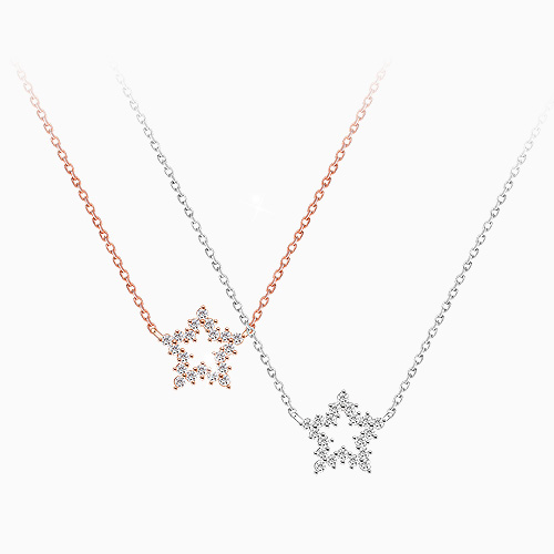 1045605 - <NE406_BC19> [Silver] twinkle star necklace