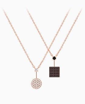 1045609 - <NE410_IE13> [Silver] Deja Vu cubic necklace