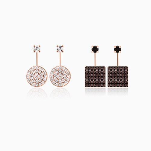 1045610 - <ER1306_IE13> [Silver] Deja Vu cubic earrings