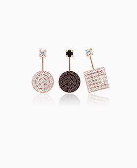1045610 - <ER1306_IE13> [Silver] Deja Vu cubic earrings