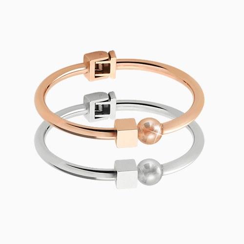 1045620 - <BC652_HB17> [Stainless Steel] ball Ann cube bracelet