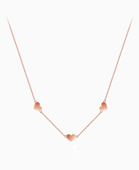 1045647 - <NE412_IG16> [Silver] Cream heart necklace