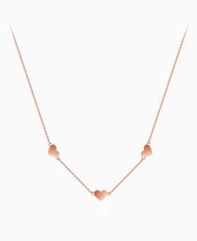 1045647 - <NE412_S> [Silver] Cream heart necklace