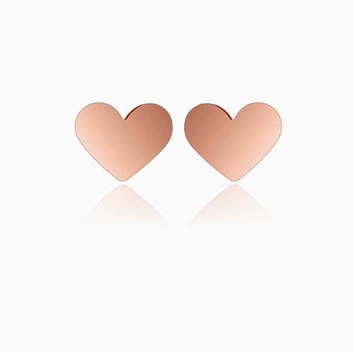 1045649 - <ER1308_IG16> [Silver] Cream heart earrings