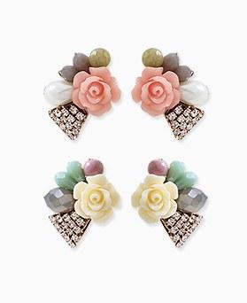 1045651 - <ER1304_DE02> [handmade] [Silver Post] rose holic earrings