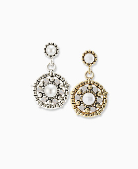 1045656 - <ER1298_CD07> [handmade] antique circle drop earrings
