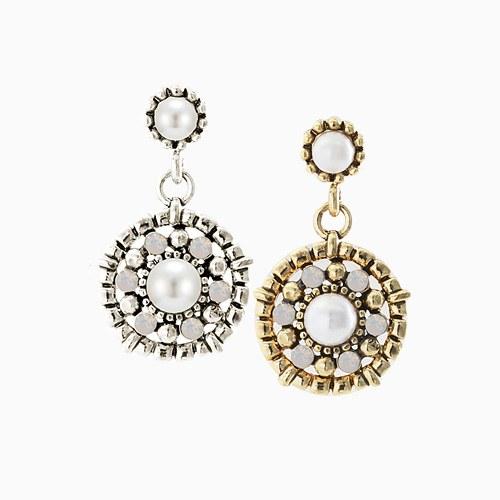 1045656 - <ER1298_CD07> [handmade] antique circle drop earrings