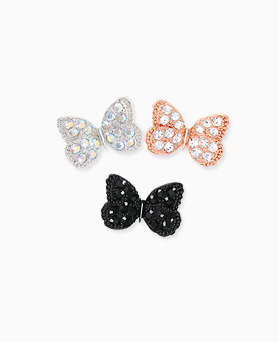 1045658 - <ER1303_CG23> [Silver Post] shine butterfly earrings