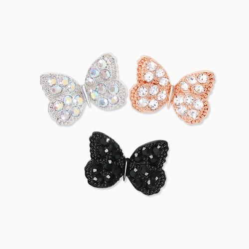 1045658 - <ER1303_CG23> [Silver Post] shine butterfly earrings