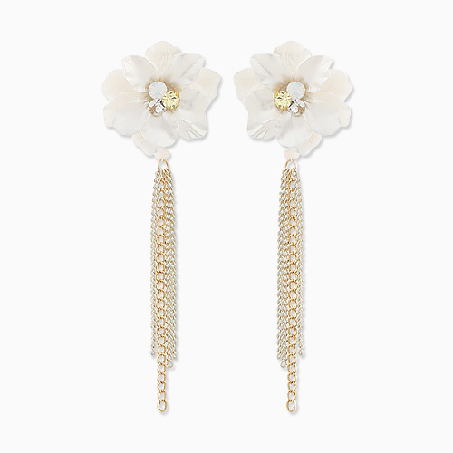 1045666 - <ER1313_CF19> Flower Fountain Two-way Earrings