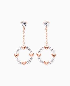 1045670 - <ER1310_CG12> [Silver Post] Heart earrings