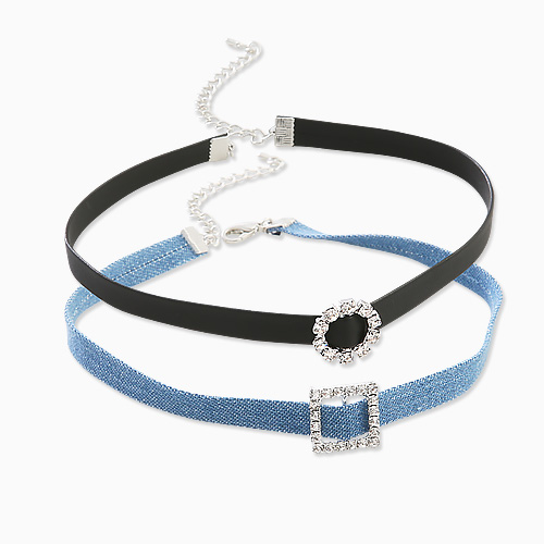 1045675 - <NE415_BC02> Monaco girl choker necklace