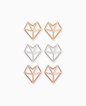 1045679 - <ER1397_BE06> [Silver] angle heart earrings