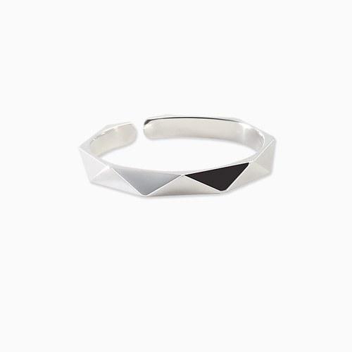 1045680 - <RI709_AF08> [Silver] slim angular rate Patterns ring