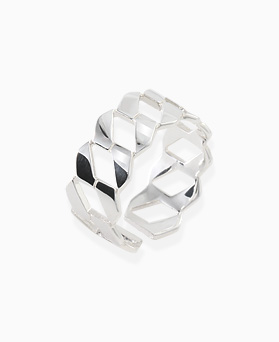 1045681 - <RI708_AF08> [Silver] wide shine twist ring