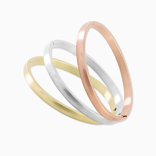 1045693 - <BC657_HB16> [Stainless steel] basic matte bangle bracelet