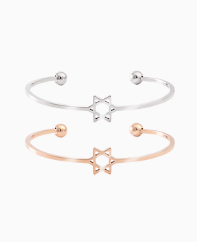 1045694 - <BC660_HB18> [Stainless Steel] star slim bangle bracelet