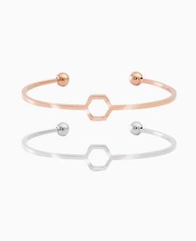 1045695 - <BC661_HB18> [Stainless Steel] Hexagon slim bangle bracelet