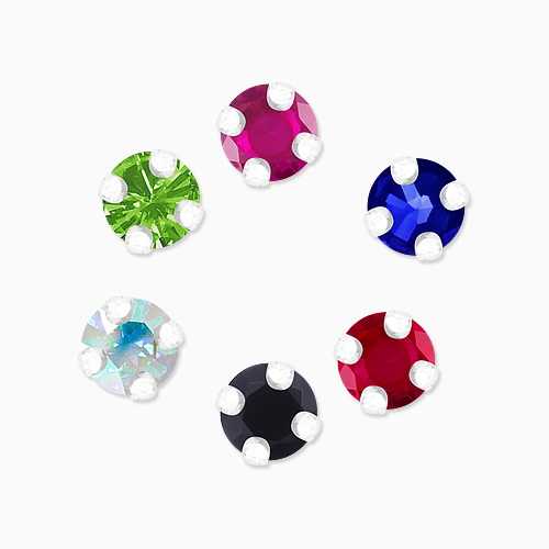 1045700 - <ER1332_CB10> [Silver] 2mm Mini cubic earrings