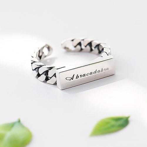 1045701 - [Carving] [Silver] antique bridge ring