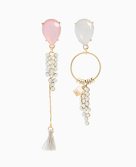 1045705 - <ER1324_DI22> Unbalanced opal tear earrings