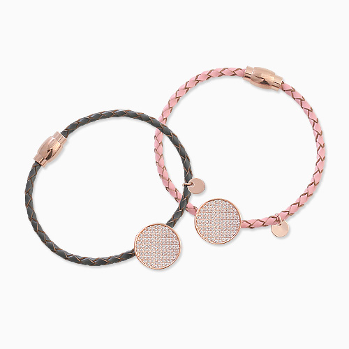 1045712 - <BC664_HC12> Dolomite leather bracelet