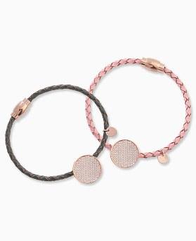 1045712 - <BC664_HC12> Dolomite leather bracelet