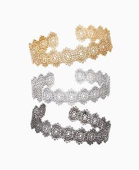 1045721 - <BC665_HC12> antique Flower Lace Bracelet