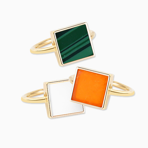 1045726 - <RI712_S> [Out of stock] single square ring