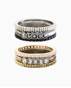 1045734 - <RI713_S> [3Piece 1set] triple fuzzy ring
