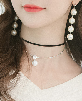 1045735 - <NE419_BF04> double line choker necklace