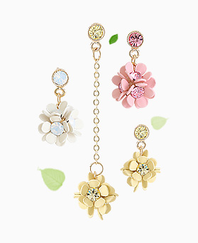 1045745 - <ER1338_S> [Out of stock] [clip type] Unbalanced April Flower earrings