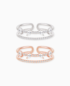 1045749 - <RI715_S> [Out of stock] Wendy two-line ring