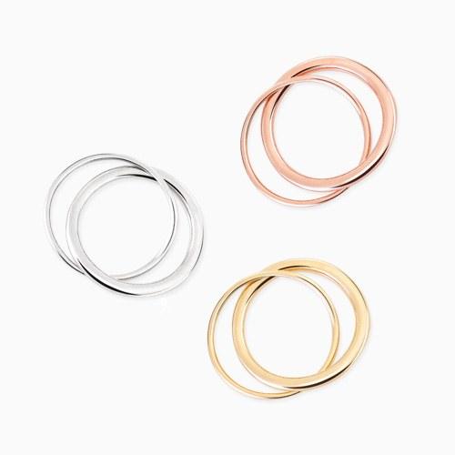 1045756 - <RI732_AH10> [Silver] Liz double ring
