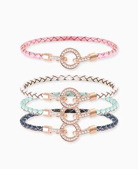 1045757 - <BC668_HF15> rhyme leather bracelet