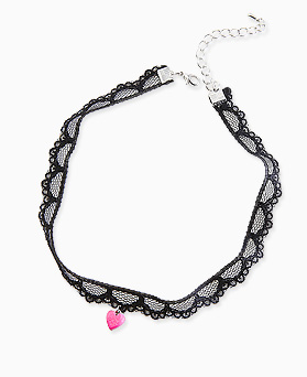 1045758 - <NE423_BC12> heart bell choker necklace