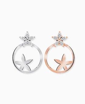 1045770 - <ER1350_S> [Silver Post] Intro Flower earrings