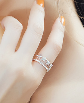 1045784 - <RI715_S> [Sold out] Stella star ring