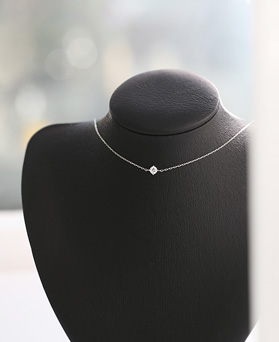 1045803 - <NE426_BB03> [Silver] 4mm cubic choker necklace