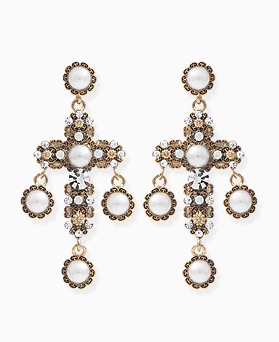 1045810 - <ER1359_CD19> Hera cross drop earrings